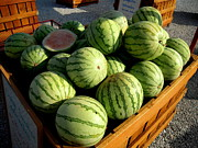 Watermelons Photos - Orange Sunshine Watermelons Just Six Dollars by Don Struke