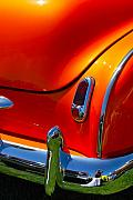 Orange Car Art - Orange Trunk by Dorota Nowak