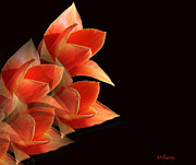 Flower Photographs Mixed Media Prints - Orange Tulip Mirage Print by Maggie Vlazny