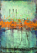 Paiting Metal Prints - Orange Visitation Metal Print by Lolita Bronzini