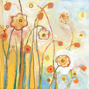 Jennifer Lommers Art - Orange Whimsy by Jennifer Lommers