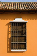 Arquitectura Prints - Orange Window Print by Juan  Silva