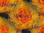 Orange You Lovely Mothers Day Print by Tim Allen
