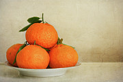 Healthy Eating Metal Prints - Oranges Metal Print by Annfrau