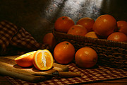 Wicker Basket Prints - Oranges Print by Olivier Le Queinec