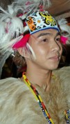 Necklace Photo Originals - Orangulu Male Dancer by Ali Mohamad