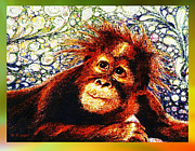 Ape Mixed Media - Orangutan Baby by Hartmut Jager