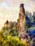 Orava Castle - Rear Side Print by Peter Kupcik