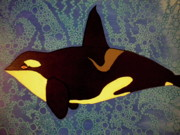 Killer Whale Paintings - Orca n Bubbles by Nick Reaves