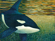 Orca Paintings - Orca by Tammy Olson