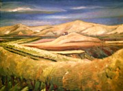 Landscap Painting Originals - Orcharde in the fall by Ernest King
