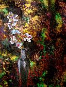 Beautiful Flowers Paintings - Orchid 1 by Laura Pierre-Louis