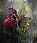 Orchid Paintings - Orchid Bulb by Matt Truiano