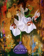 Flor Paintings - Orchid HO by Laura Pierre-Louis