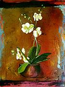 Beautiful Flowers Paintings - Orchid  by Laura Pierre-Louis