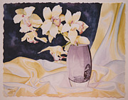 Flowers Painting Prints - Orchid Sunlight Print by Eve Riser Roberts