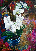 Orchid Flowers Prints - Orchid You Print by Laura Pierre-Louis