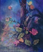 Original For Sale Pastels Prints - Orchids 2 Print by Apollo Neil Casas