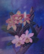 Painter Pastels Posters - Orchids Poster by Apollo Neil Casas