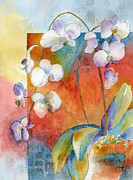 Orchid Paintings - Orchids In Bend by Pat Katz