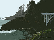 Lincoln City Prints - Oregon Coast Ben Jones Bridge Print by Glenna McRae