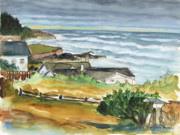 Watercolor Paintings - Oregon Coast by Ethel Vrana