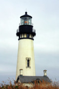 Yaquina Lightstations Posters - Oregon Coast Lighthouses - Yaquina Head Lighthouse Poster by Christine Till