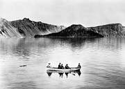 Crater Lake View Photos - OREGON: CRATER LAKE, c1912 by Granger