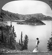 Crater Lake View Framed Prints - Oregon: Crater Lake Framed Print by Granger