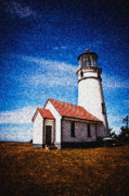 Lighthouse Mixed Media Posters - Oregon Light house Poster by Jim  Hatch