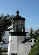 Old Building Prints - Oregon Lighthouses - Cape Meares Lighthouse Print by Christine Till