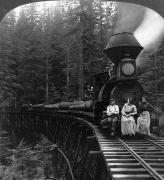 Turn Of The Century Metal Prints - Oregon: Logging Train Metal Print by Granger