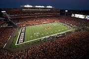 Fans Prints - Oregon State Night Game at Reser Stadium Print by Oregon State University