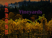 Winery Digital Art - Oregon Vineyards by Glenna McRae