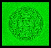 Oreo Metal Prints - OREO in GREEN Metal Print by Rob Hans