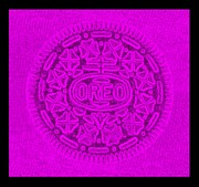 Oreo Metal Prints - OREO in PURPLE Metal Print by Rob Hans
