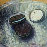 Oreos Prints - Oreos On A Pie Tin Print by Judy Palermo