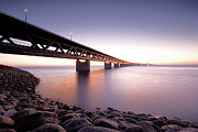 Dusk Prints - Oresundsbron Print by Andreas Hagman Photo Sweden