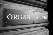 Plaque Posters - Organ Gallery Sign On The Usher Hall Edinburgh Scotland Uk United Kingdom Poster by Joe Fox