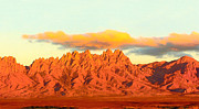 Mountains Digital Art - Organ Mountain Sunset by Jack Pumphrey