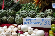 Fruit Stand Posters - Organic Artichokes - 5D17065 Poster by Wingsdomain Art and Photography