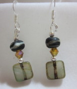 Organic Jewelry - Organic Earth Tone Earrings by Janet  Telander
