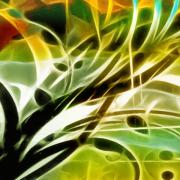 Abstract Composition Digital Art - Organic Spring by Ann Croon