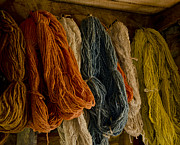 Fibers Posters - Organic Yarn and Natural Dyes Poster by Wilma  Birdwell