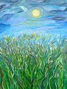 Marsh Scene Paintings - Organized Shine by Sara Credito