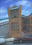 Old Cars Paintings - Oriental Avenue by Suzn Smith