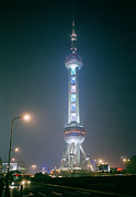 Brave New World Prints - Oriental Pearl TV Tower in Shanghai in China Print by Shaun Higson