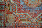 Textiles Posters - Oriental rug detail. Poster by John Greim
