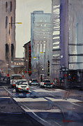 Streetscape Painting Originals - Oriental Theater - Chicago by Ryan Radke