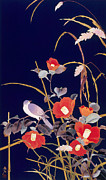 Japan Framed Prints - Oriental Wildflowers Framed Print by Haruyo Morita